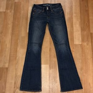 Trendy flare jeans